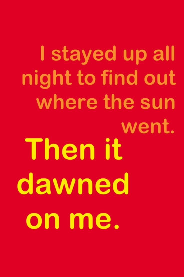 Sun pun (Oh that rhymed!) | Jokes and Puns | Sun puns ...