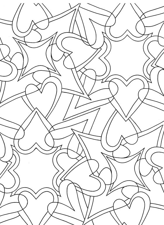 Heart Designs Doodles Coloring Pages Pinterest