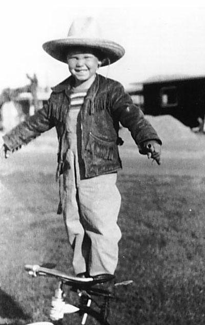 The Doors lead singer, Jim Morrison, having fun as a young man.