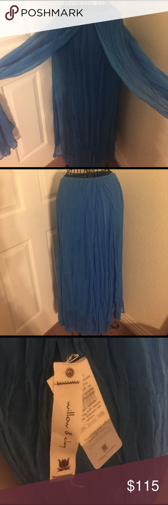 Willow & clay Bermuda blue maxi skirt Nwt willow & clay Bermuda blue skirt.  Size medium Willow & Clay Skirts Maxi