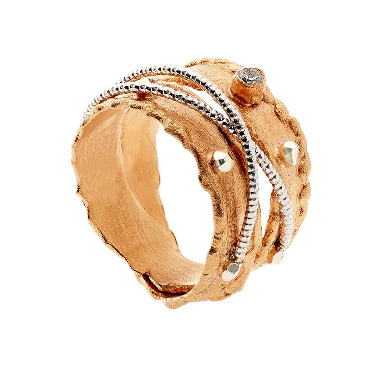 Oxette Rose Gold Silver 925 - Available here http://www.oxette.gr/kosmimata/daktulidia/ster.silv.rosegold-pl.ring-double-cz-oxette-608l-1/ #oxette #OXETTEring #jewellery