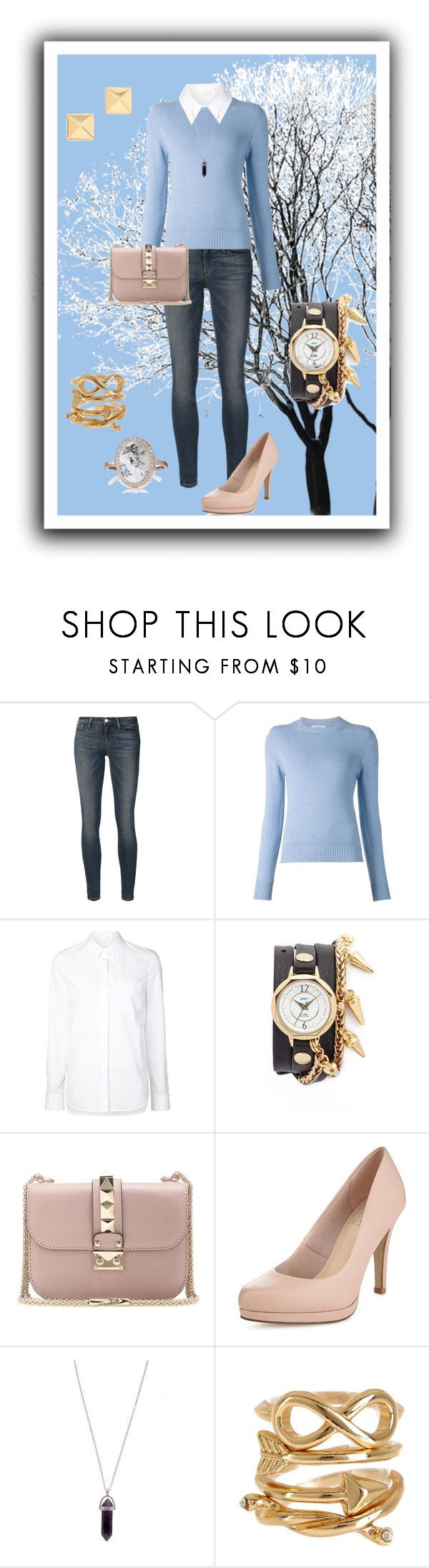 """""""Sweater & shirt"""" by bebe6121985 on Polyvore featuring moda, Frame Denim, Barrie, Alexander Wang, La Mer, Valentino, Limited Edition, Vince Camuto, Spring Street i Monique Péan"""