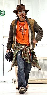 PIRATE JACK  Johnny Depp is on the move again, leaving Nice with girlfriend Vanessa Paradis, 4-year-old son Jack and daughter Lily in tow Thursday. Depp's family feature, Pirates of the Caribbean: Dead Men's Chest, opens this summer. Published: Friday May 05, 2006   11:45 AM EDT