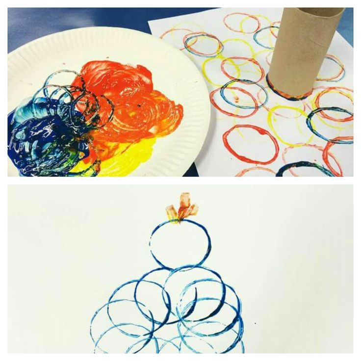 Twirlywoo painting with toilet rolls