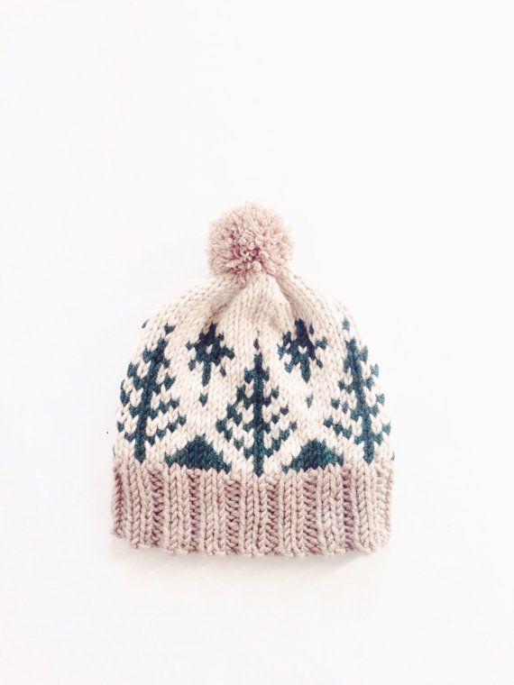 Adirondack Toboggan by Two of Wands // Pompom Winter Ski Fair Isle Patterned Alpine Beanie Cap Hat