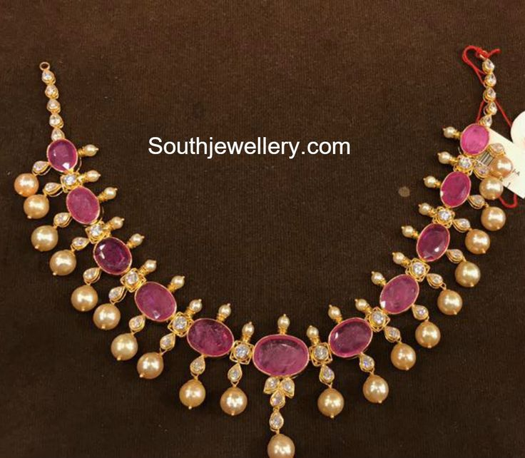 32 Grams Simple Ruby Necklace