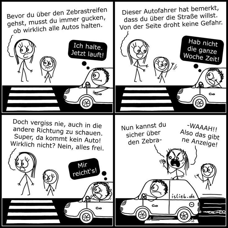 Zebrastreifen | #verkehr #auto #sicherheit #islieb