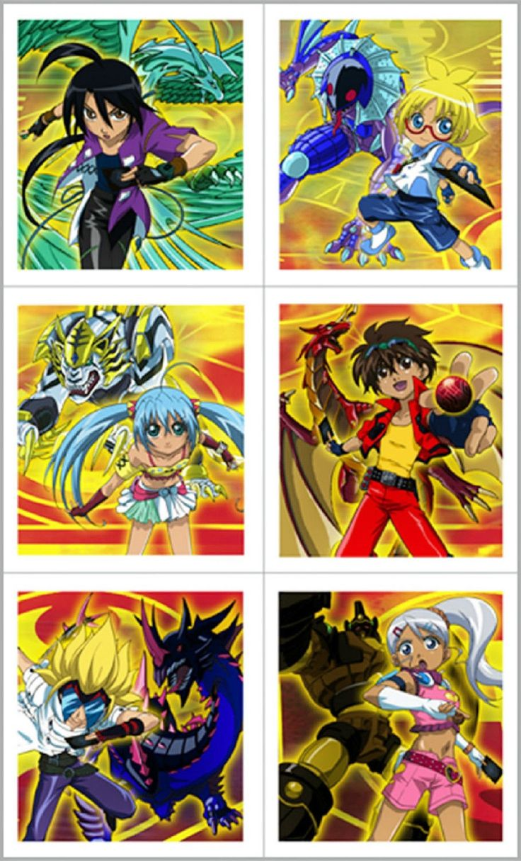 Bakugan Battle Brawlers Stickers Party Favors Crafts