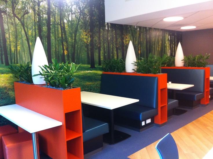 Lunchen in het bos met interieurbeplanting van Mekelenkamp Ede