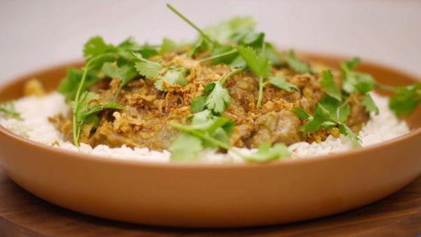 Eén - Dagelijkse kost - Aziatisch stoofpotje van lamsvlees met rijst