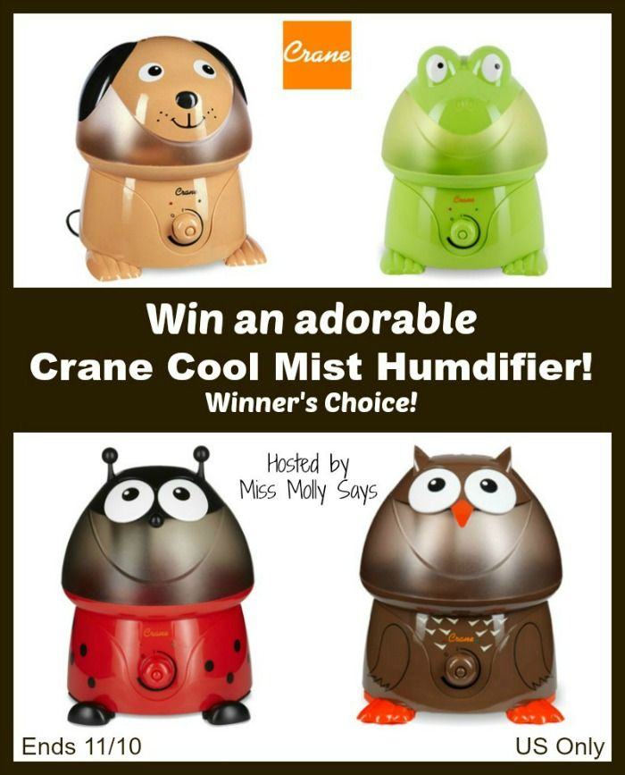 Crane Cool Mist Humidifier Giveaway!