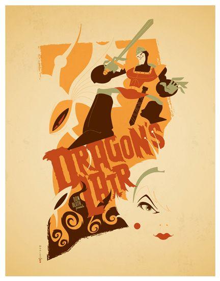 dragon's lair poster by strongstuff.deviantart.com