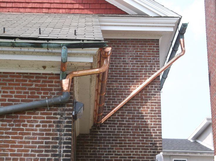 8 best gutters downspouts images on pinterest copper gutters copper gutter downspout solutioingenieria Images