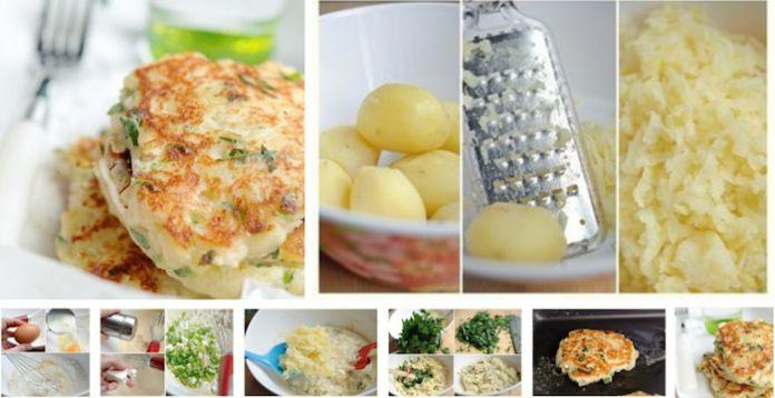 Готовить быстро и легко!              Ингредиенты:— 500 гр вареного картофеля (холодный)— 1 маленький зубчик чеснока— 1/2 чашки муки— 2/3 ч. ложки разрыхлителя— 1/2 ч. ложки соли— 120 гр сыра фета…
