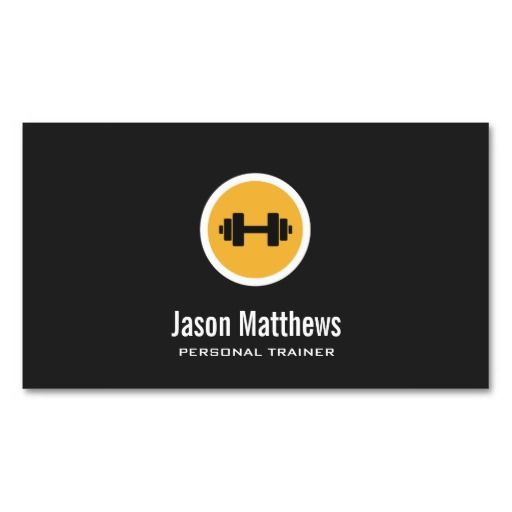 Dumbbell Logo, Personal Trainer, Fitness Gym business cards. Great card for trainers, gym owners, fitness instructors and more. Fully customizable and ready to order. customizable business cards | cheap business cards | cool business cards | Business card templates | unique business cards