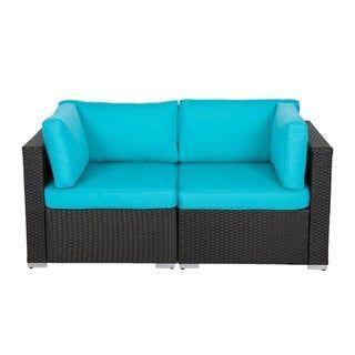 Kinbor 2 Piece Outdoor Furniture Patio Love Seat All Weather