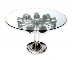 table with aircraft piston