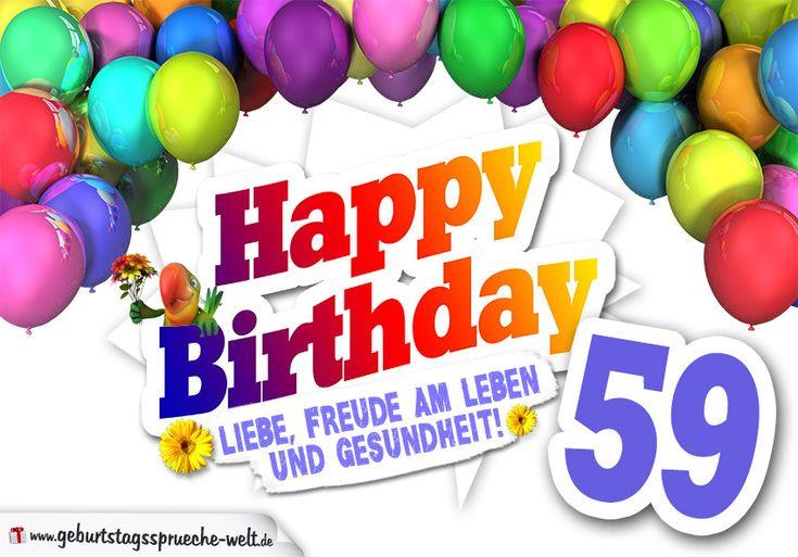 Geburtstagsbilder 58 Jahre Lovely Bunte Geburtstagskarte Mit