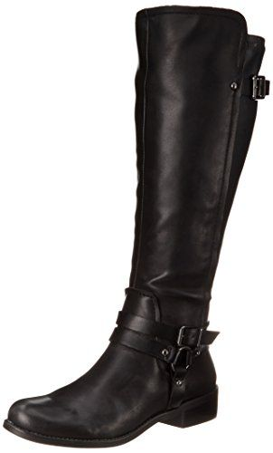 BUY NOW The Kurt Women s Boots by BCBGeneration are sure to get you noticed in all the right ways. The boots feature a leather upper, strap and buckle accents at the calf and instep, leather and man-made lining, side-zip closure, synthetic stretch material along the back panel of the shaft, man-made sole, and a lightly cushioned footbed for added comfort.Approximate Measurements: Heel Height 1.5 Shaft Height: 16 Boot Opening 15 Style: BG-Kurt BUY