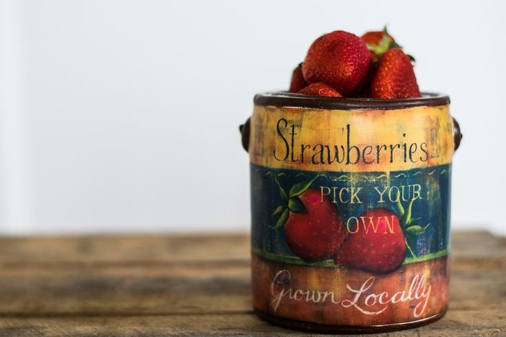 Strawberry Ceramic Pail