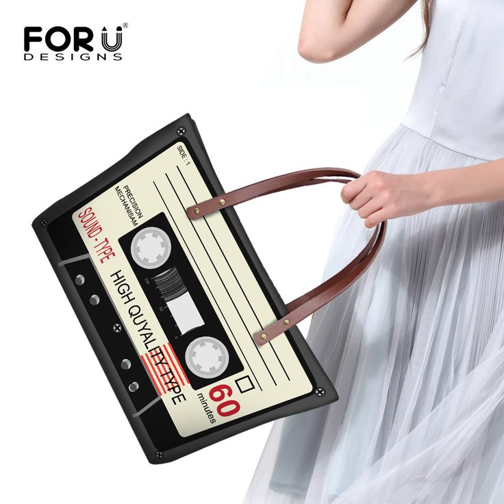 HANDBAG - Under $35. . . Novelty Women Large Shoulder Bag Vintage Cassette Record Handbag For Ladies Fashion