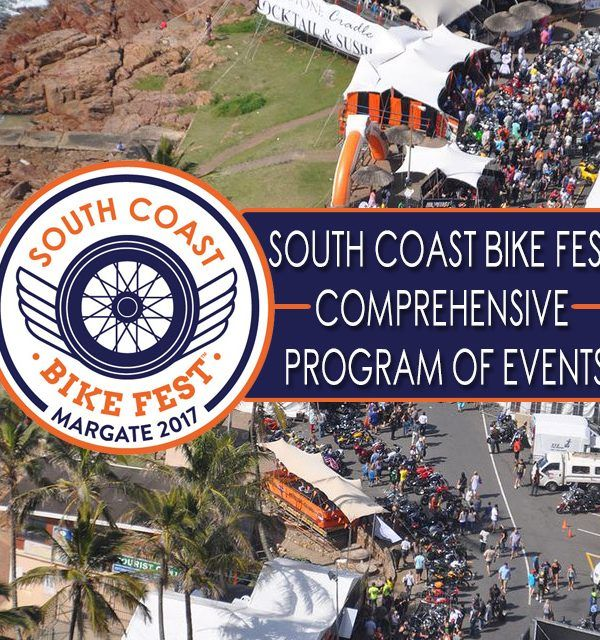 Comprehensive program for the #SCBF2017 MORE INFO ON OUR WEBSITE. LINK IN BIO. Book #accommodation with us in #Margate @wozaniafrica @southcoastbike1