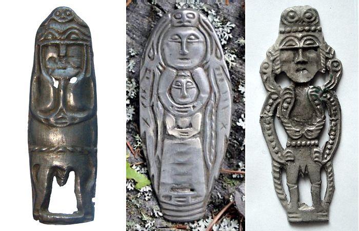 Антропоморфные ритуальные пластины. Сибирь, средневековье.