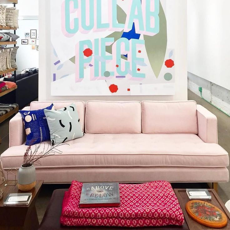 Our Aubrey Sofa Looks So Fresh On Neighborhood Storeu0027s Showroom Floor. |  Artwork By: