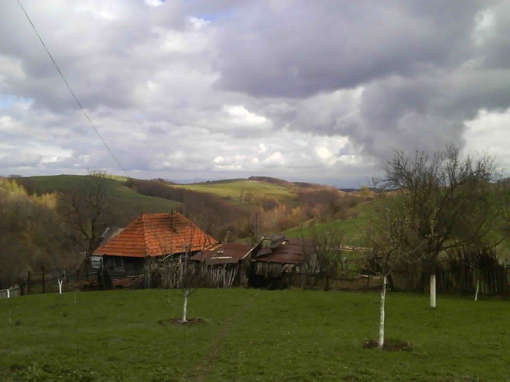 Countryside view-Romanian village Muncelu-Mic