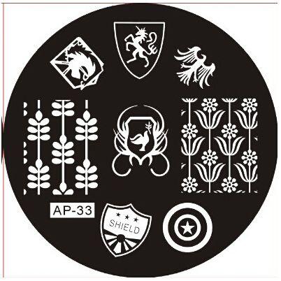 АП-33 Моды DIY Для Ногтей Красоты Nail Art Image Stamp Штамповка Плиты 3D Nail Art Шаблоны Трафаретов Маникюр Инструменты
