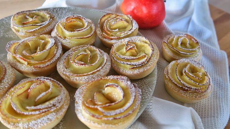 Crostatine di crema e mele, ricetta facile per dolcetti alle mele dall'aspetto elegante e sofisticato. Facciamo le crostatine a forma...