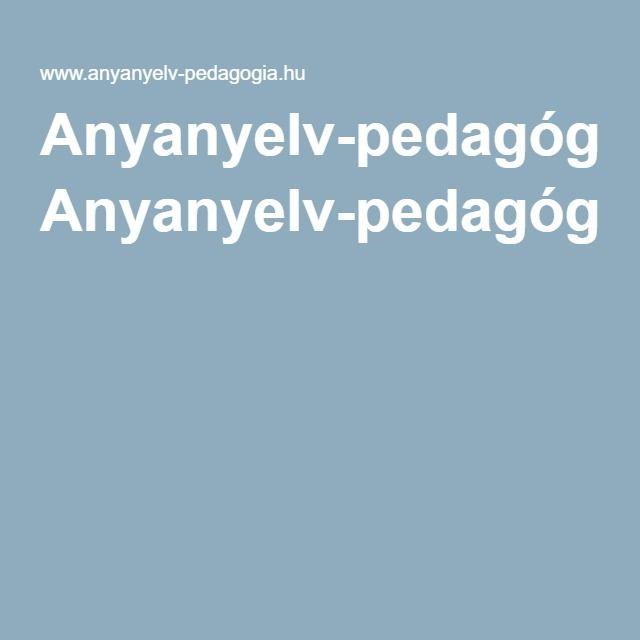 Anyanyelv-pedagógiaversfeldolgozás