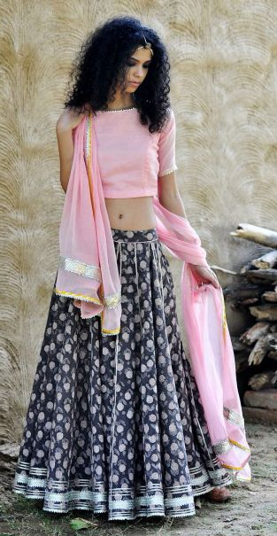 Simple lehenga Choli | Now available at www.room2shop.com                                                                                                                                                     More