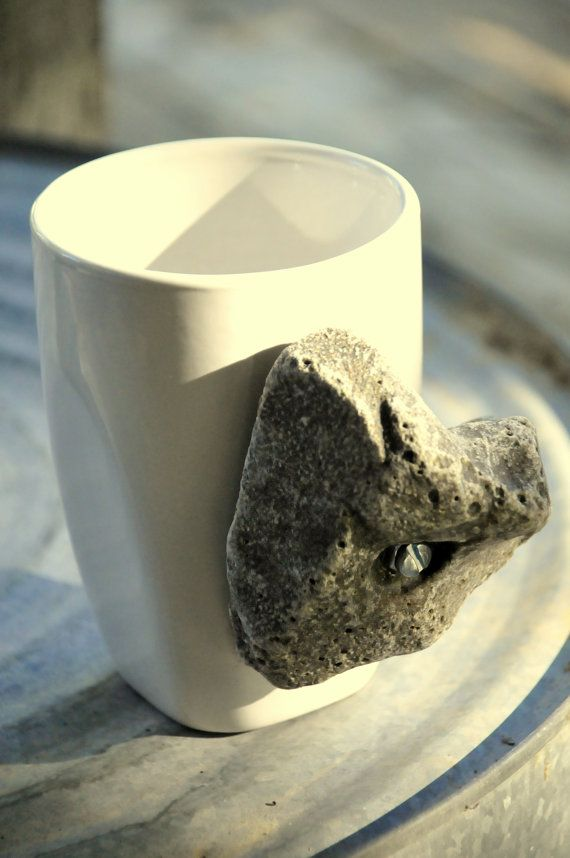 Rock Climbing Hold Coffee Cup.  Coffee mugs with an enjoyable rock climbing hold for the outdoorsy type.