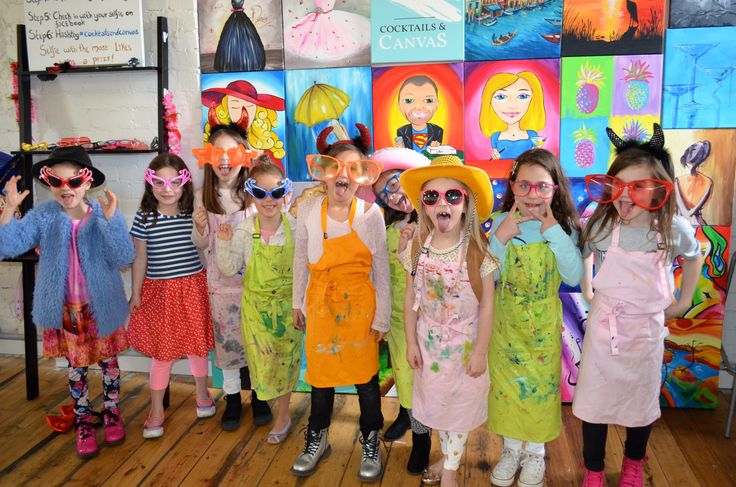 All fun and games at Kids and Canvas!