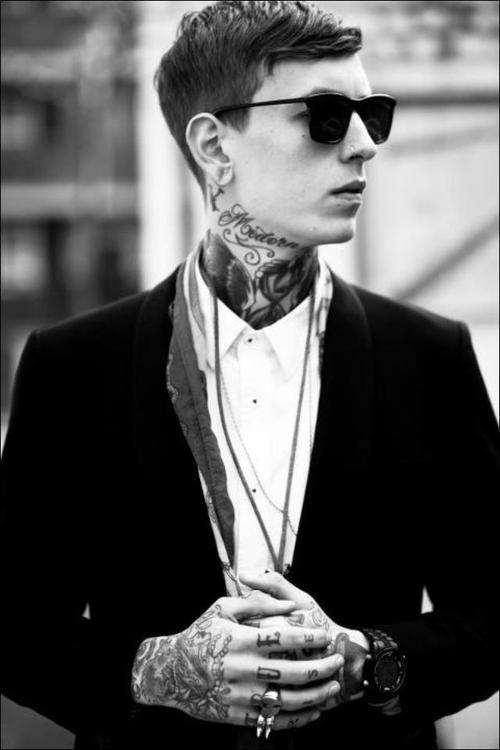 neck hands tattoo