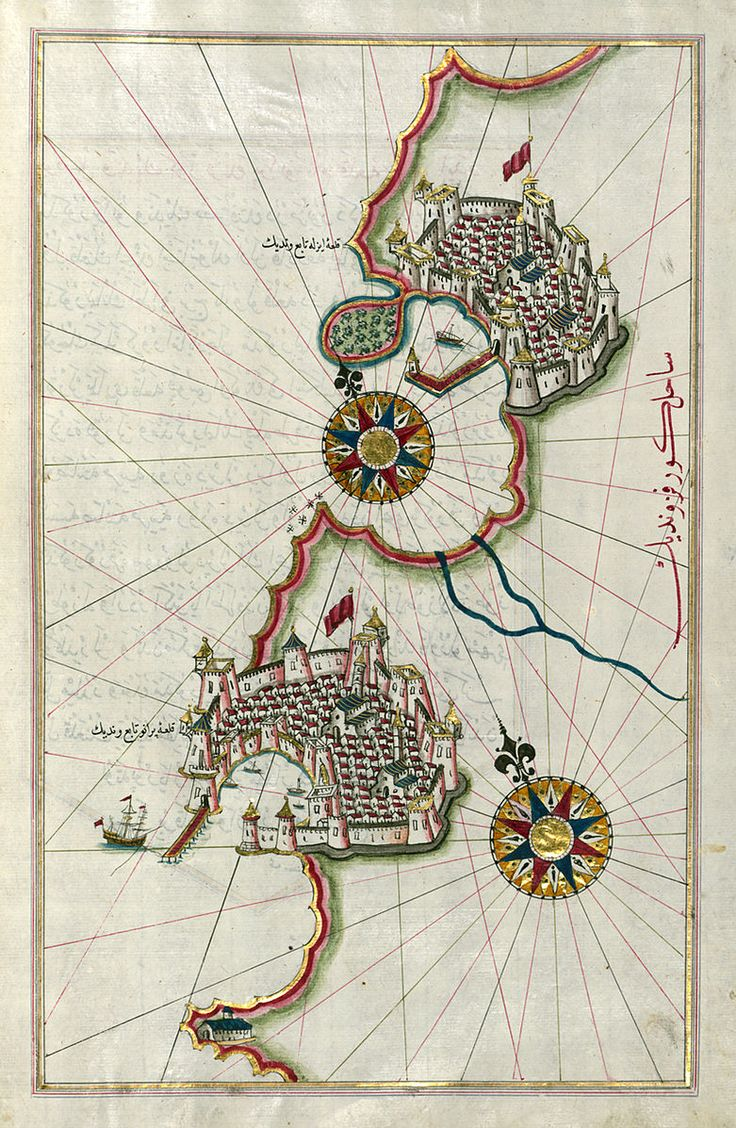 File:Piri Reis - Map of the Coastline from Piran as Far as Izola - Walters…