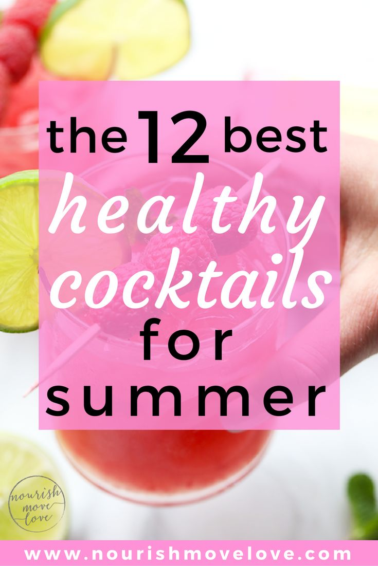 12 Healthy Cocktail Recipes for Summer. Summertime just got a little sweeter sipping on the ripe summer berries and freshly muddled herbs in these 12 healthy cocktail and mocktail recipes! | www.nourishmovelove.com