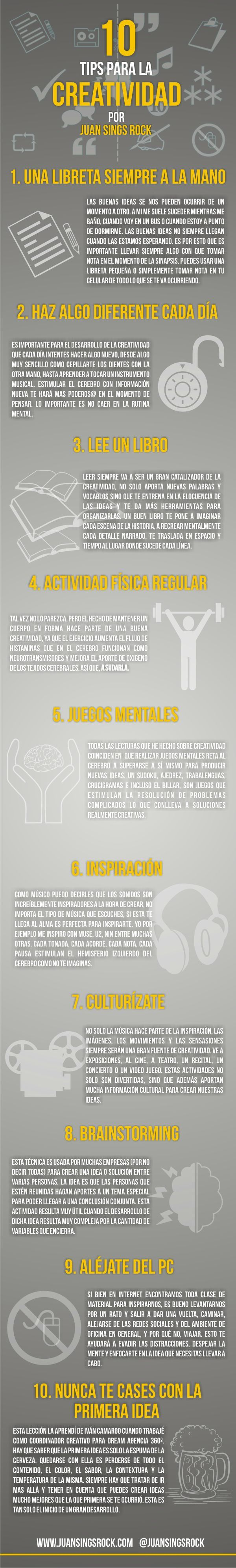 Algunas ideas para ser creativo | #readytocreate