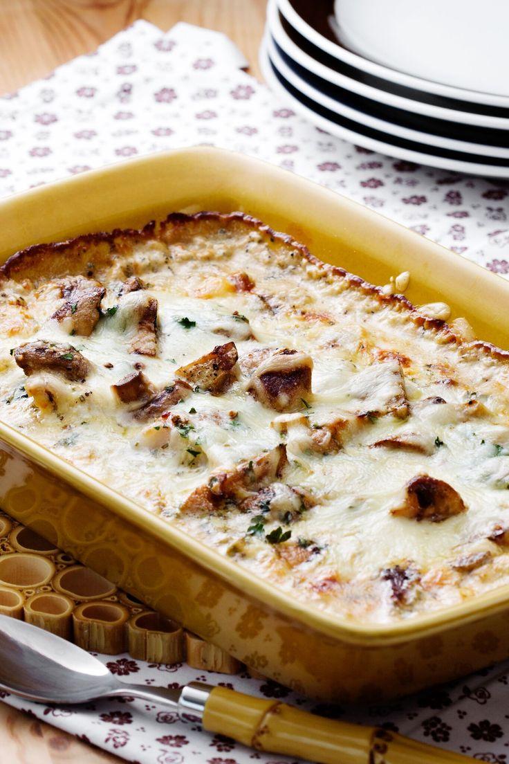 Rustik och snabblagad fiskrätt med en krämig fransk senapssås för dig som är förtjust i svamp och örtkryddor.