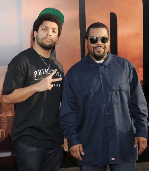 O'Shea Jackson (Ice Cube) and son O'Shea Jackson Jr.