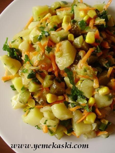 Mısırlı Patates Salata