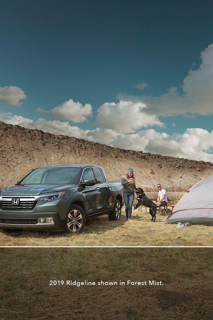 Drive a 2019 Ridgeline this summer, 'cause the campsite