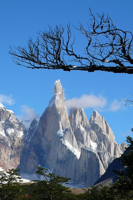 El Cerro Torre, Pataonia, Argentina, by Maria Friel..