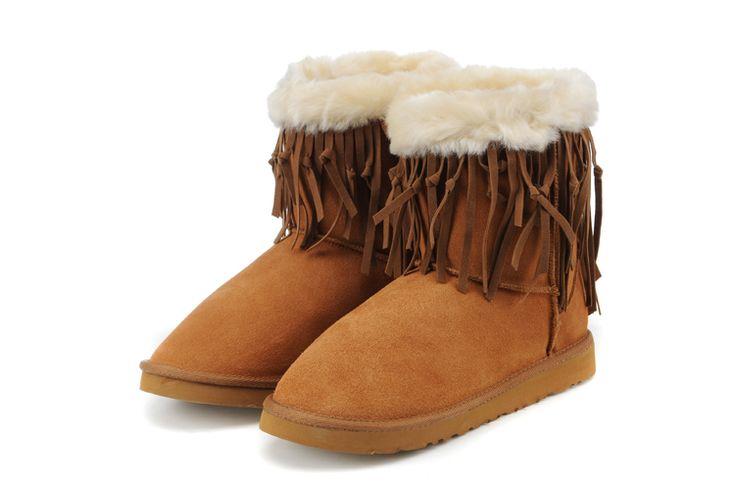 Chestnut UGG Boots Tassel Short 5835 Cheap Online