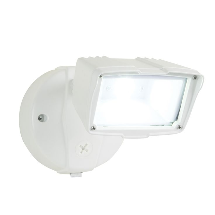 Shop Utilitech Pro 23-Watt White LED Dusk-To-Dawn Security