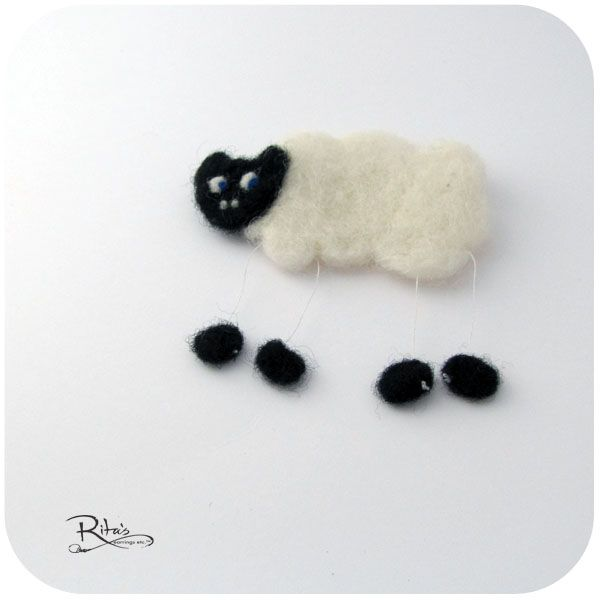 a felted sheep to make you smile :)