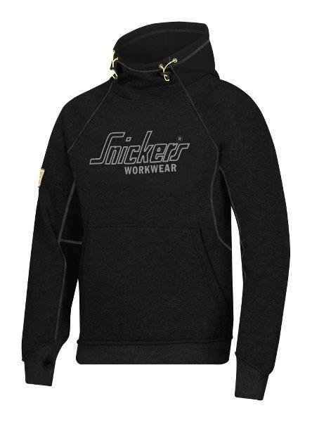 Fed hoodie! Snickers Logo hættetrøje, sort (2815-0400) - Overdele - BILLIG-ARBEJDSTØJ.DK