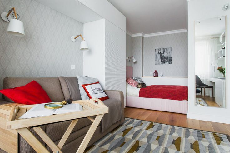 Hogyan rendezz be egy 33m2-es kis egyszobás lakást - világos dekoráció praktikus megoldások a lehetőségekhez mérten tágas elrendezés külön konyha
