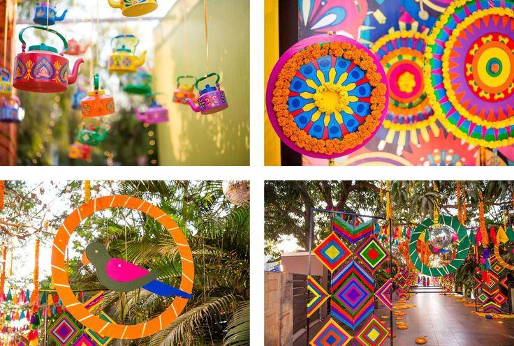 Mela Theme Colorful Mehndi Sangeet Wedding Photography Ahmedabad